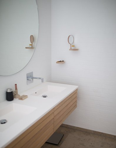 sink with mirror bathroom design