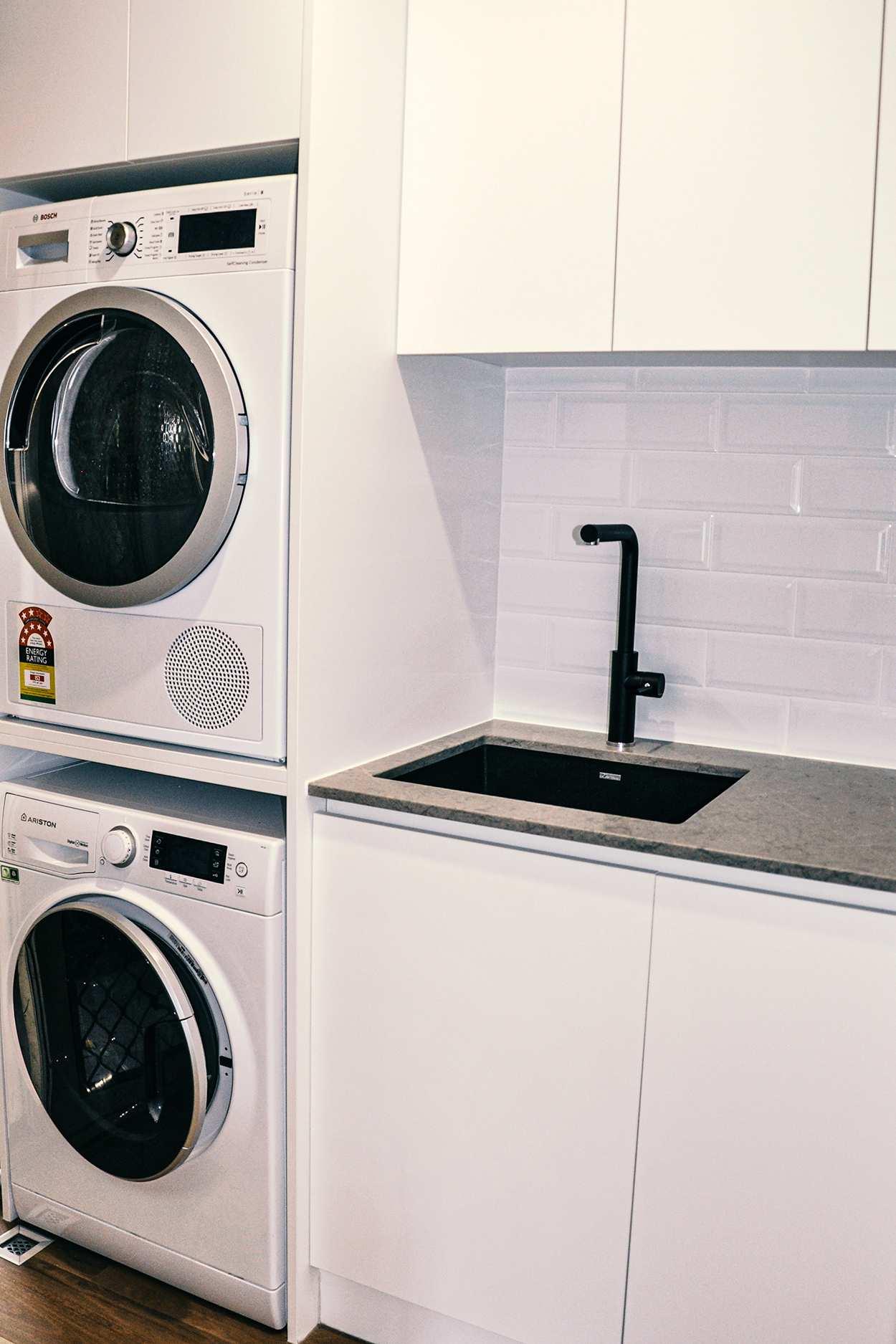 best washing machine cabinets in kitchen